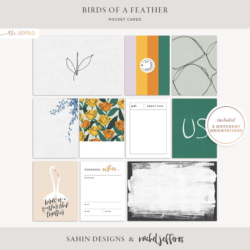 Birds of a Feather Printable Pocket Cards - Sahin Designs & Rachel Jefferies