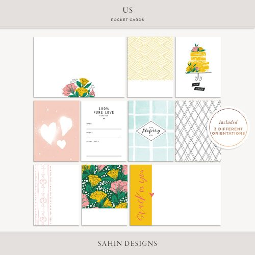 Us Printable Pocket Cards- Sahin Designs