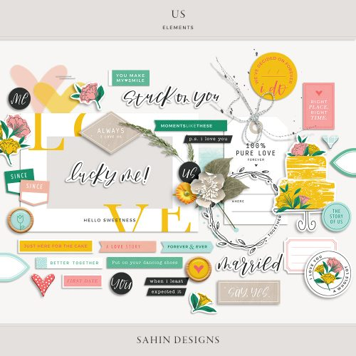 Us Digital Scrapbook Elements - Sahin Designs