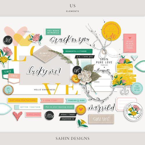 Us Digital Scrapbook Elements - Sahin Designs