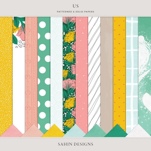 Us Digital Scrapbook Papers - Sahin Designs