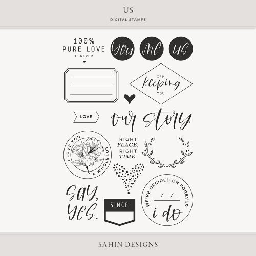 Us Digital Scrapbook Stamps - Sahin Designs