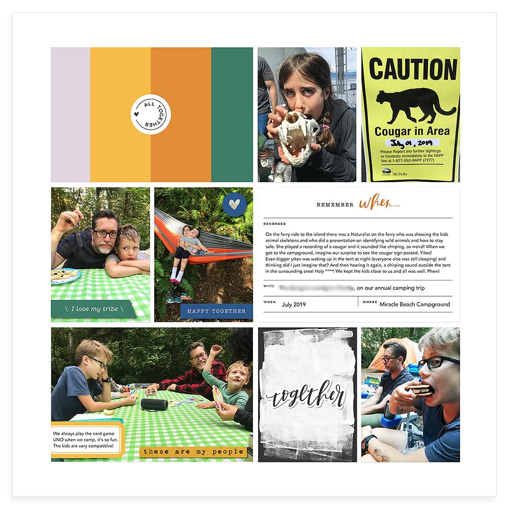 Pocket Scrapbooking Layout Inspiration - Sahin Designs