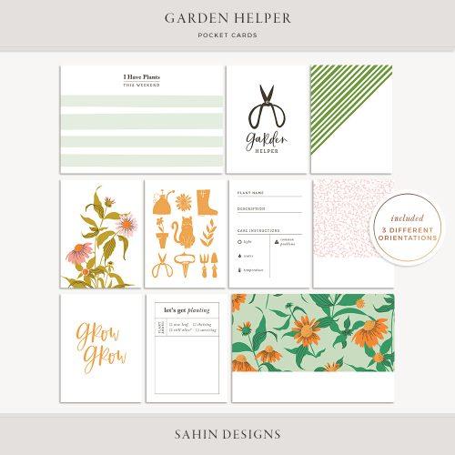 Garden Helper Printable Pocket Cards - Sahin Designs
