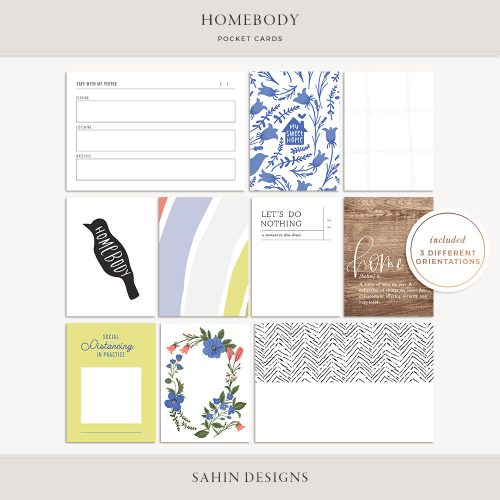 Homebody Printable Pocket Cards - Sahin Designs