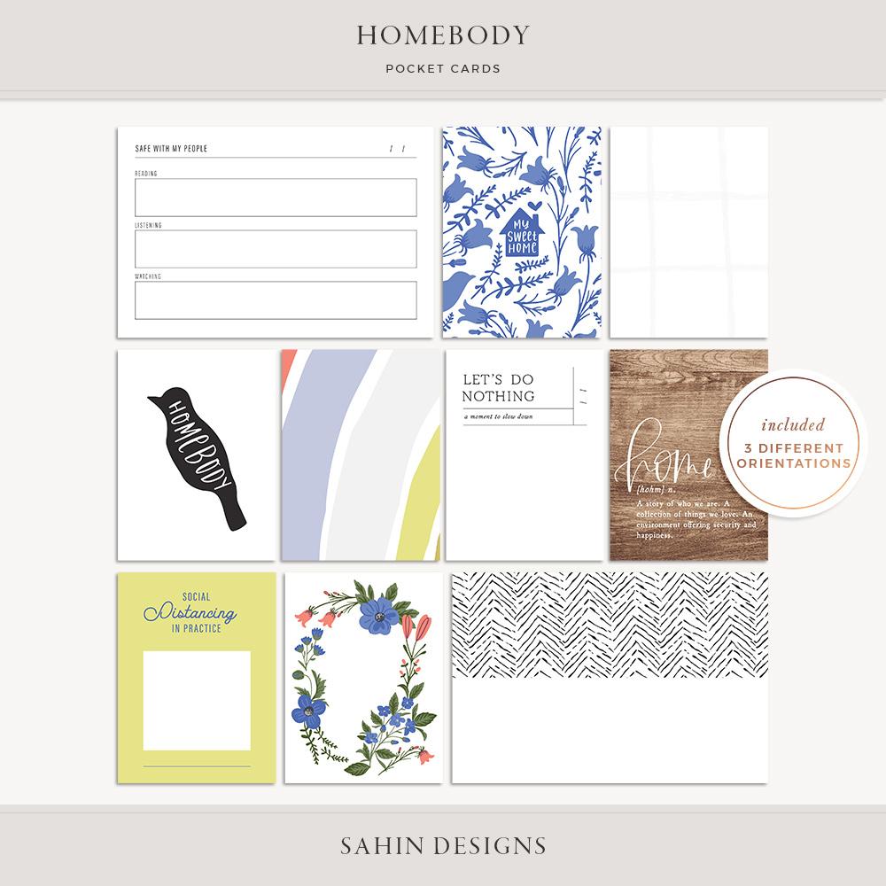 Homebody Printable Pocket Cards - Sahin Designs
