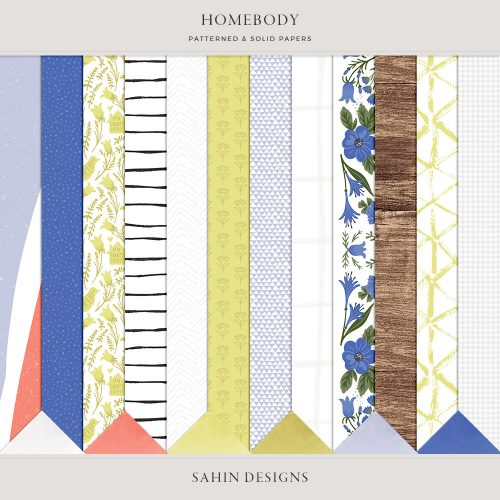 Homebody Digital Scrapbook Papers - Sahin Designs