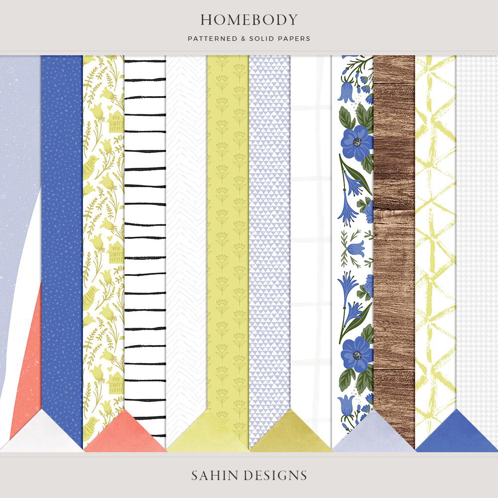 Homebody Digital Scrapbook Papers - Sahin Designs