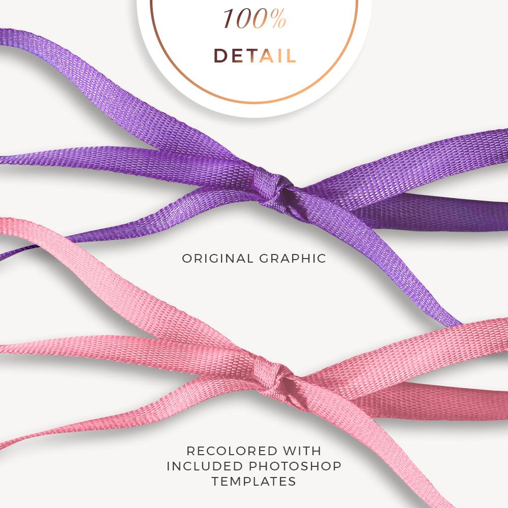 Extracted Thin Ribbons - Sahin Designs - CU Digital Scrapbook