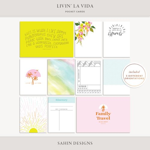Livin' La Vida Printable Pocket Cards - Sahin Designs