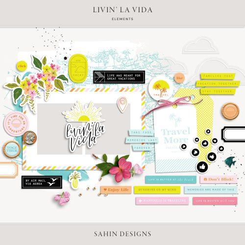 Livin' La Vida Digital Scrapbook Elements - Sahin Designs