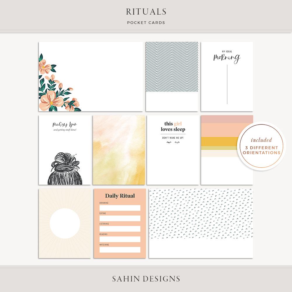 Rituals Printable Pocket Cards - Sahin Designs - Free Scrapbooking Download