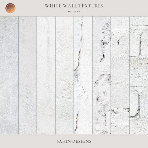 White wall textures - Sahin Designs - CU Digital Scrapbook