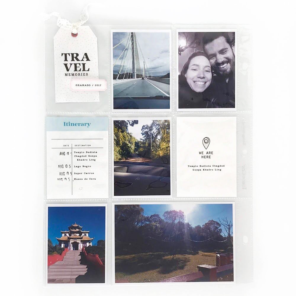 Pocket Scrapbook Layout Inspiration - Sahin Designs