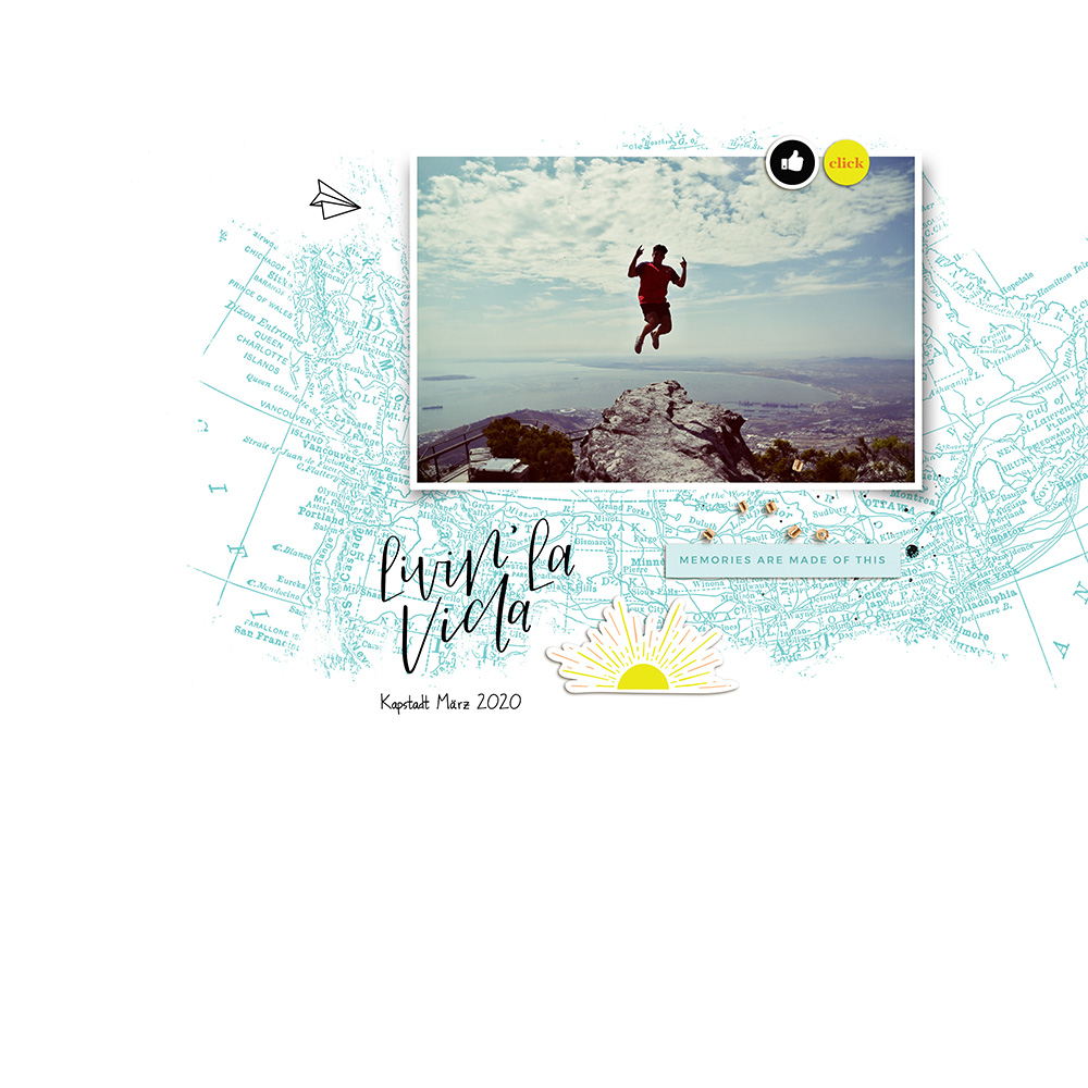 Digital Scrapbook Inspiration - Sahin Designs