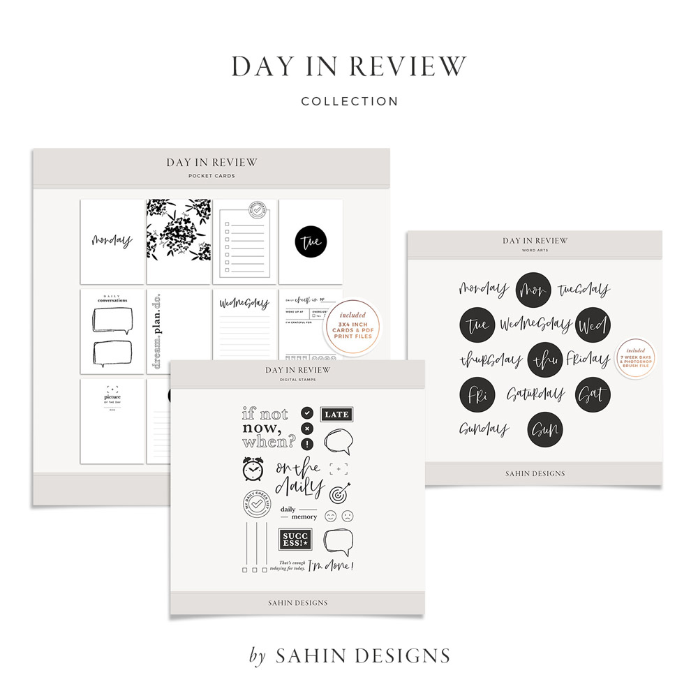Day in Review Digital Scrapbook Collection - Sahin Designs