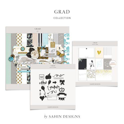 Grad Digital Scrapbook Collection - Sahin Designs