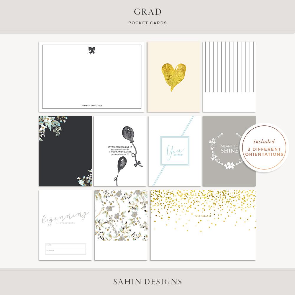 Grad Printable Pocket Cards - Sahin Designs