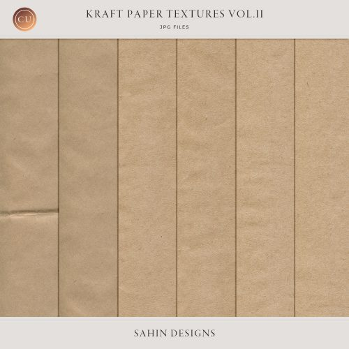 Kraft paper textures - Sahin Designs - CU Digital Scrapbook