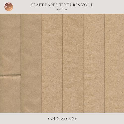 Kraft paper textures - Sahin Designs - CU Digital Scrapbook