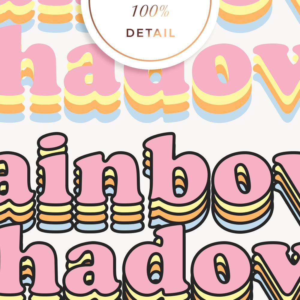 Rainbow Shadow Photoshop Actions - Sahin Designs - CU Digital Scrapbook