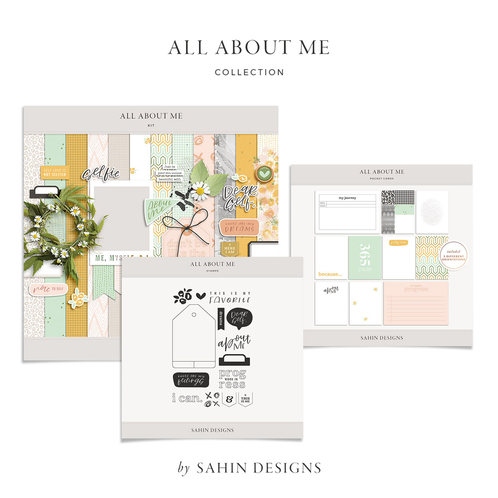 All About Me Digital Scrapbook Collection - Sahin Designs