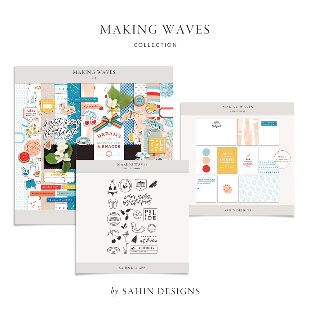 Making Waves Digital Scrapbook Collection - Sahin Designs