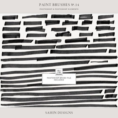 Marker Line Photoshop Brushes - Sahin Designs - CU Digital Scrapbook