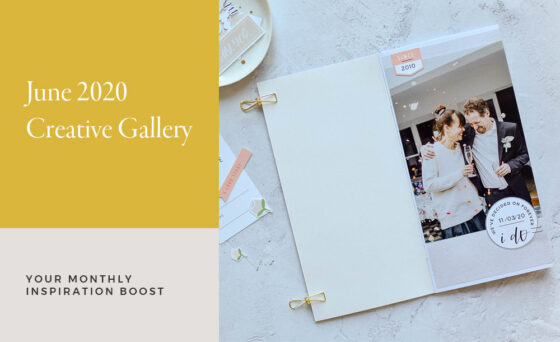 June Creative Scrapbook Gallery 2020 - Sahin Designs