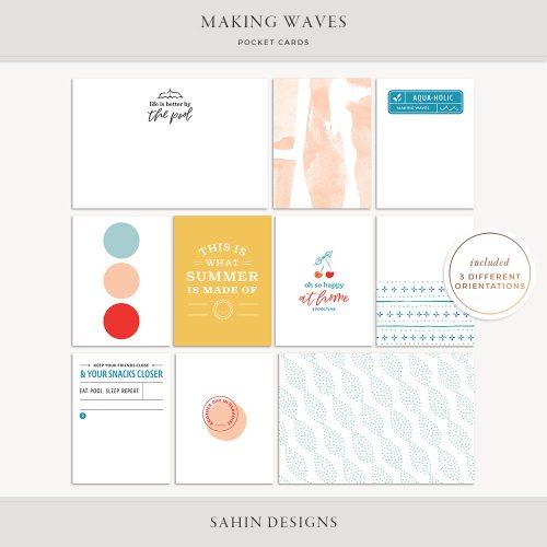 Making Waves Printable Pocket Cards - Sahin Designs