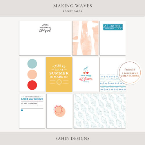 Making Waves Printable Pocket Cards - Sahin Designs