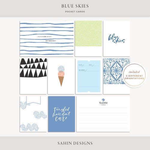 Blue Skies Printable Pocket Cards - Sahin Designs