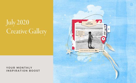 July Creative Scrapbook Gallery 2020 - Sahin Designs