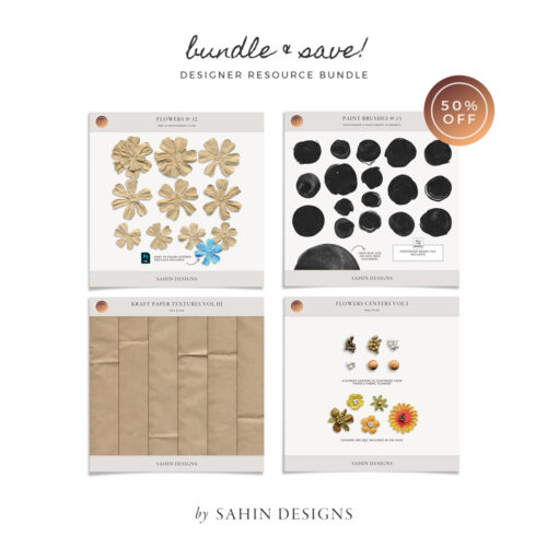 July 2020 Scrapbook Designer Resource Bundle - Sahin Designs