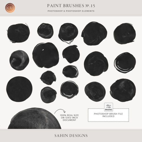 Ink Circles Photoshop Brushes - Sahin Designs - CU Digital Scrapbook