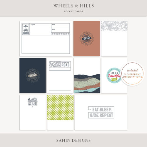 Wheels & Hills Printable Pocket Cards - Sahin Designs