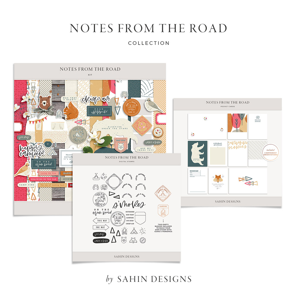 Notes from the Road Digital Scrapbook Collection - Sahin Designs
