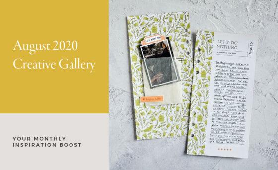 August Creative Scrapbook Gallery 2020 - Sahin Designs
