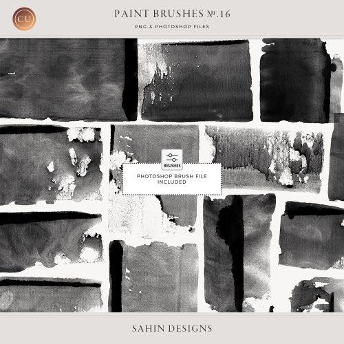 Rolled paint Photoshop brushes - Sahin Designs - CU Scrapbook