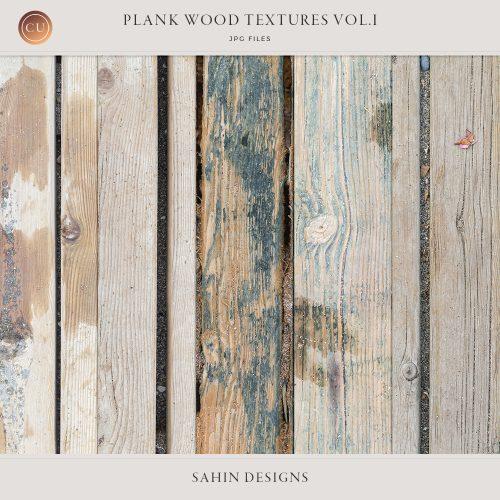 Plank wood textures - Sahin Designs - CU Scrapbook