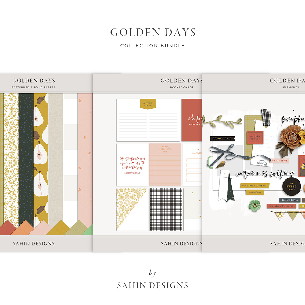 Golden Days Digital Scrapbook Collection - Sahin Designs