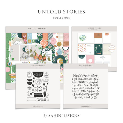 Untold Stories Digital Scrapbook Collection - Sahin Designs