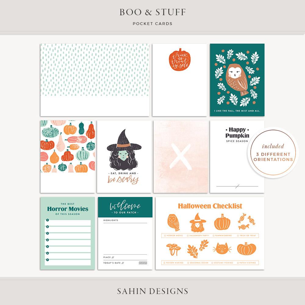 Boo & Stuff Printable Pocket Cards - Sahin Designs