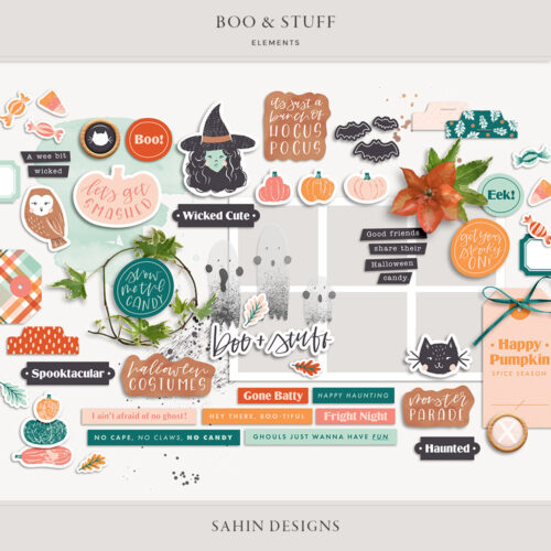 Boo & Stuff Digital Scrapbook Elements - Sahin Designs