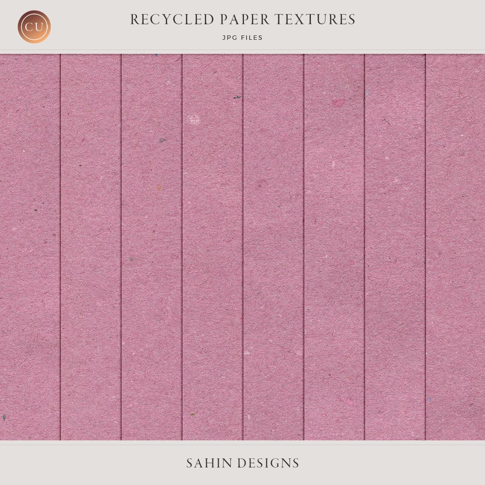 Extracted Recycled Paper Textures - Sahin Designs - CU Digital Scrapbook