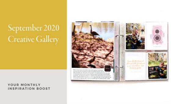 September Creative Scrapbook Gallery 2020 - Sahin Designs