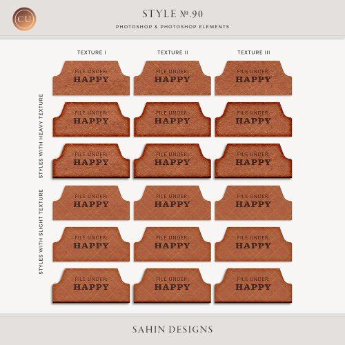 Paper Texture Photoshop Layer Style - Sahin Designs - CU Digital Scrapbook