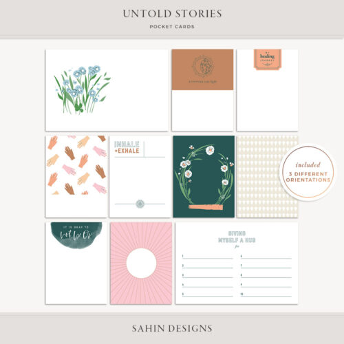 Untold Stories Printable Pocket Cards - Sahin Designs