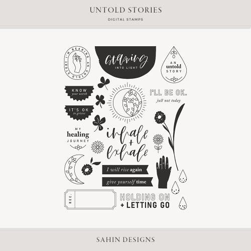 Untold Stories Digital Scrapbook Stamps - Sahin Designs