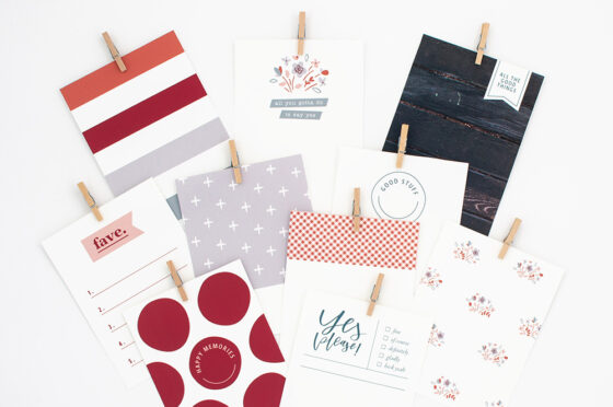 Yes Printable Pocket Cards - Sahin Designs - Free Scrapbooking Download